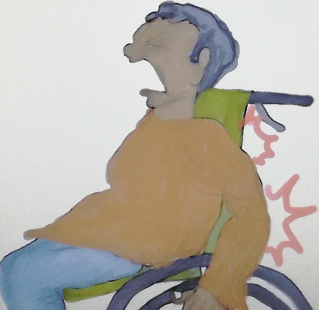 関節の動きだけで自走式車椅子を漕ごうとすると肩関節と肘関節を痛め易い